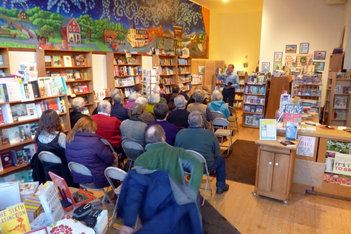 Leland Kinsey reads at The Galaxy Bookshop in Hardwick, Vermont for his launch of WINTER READY.