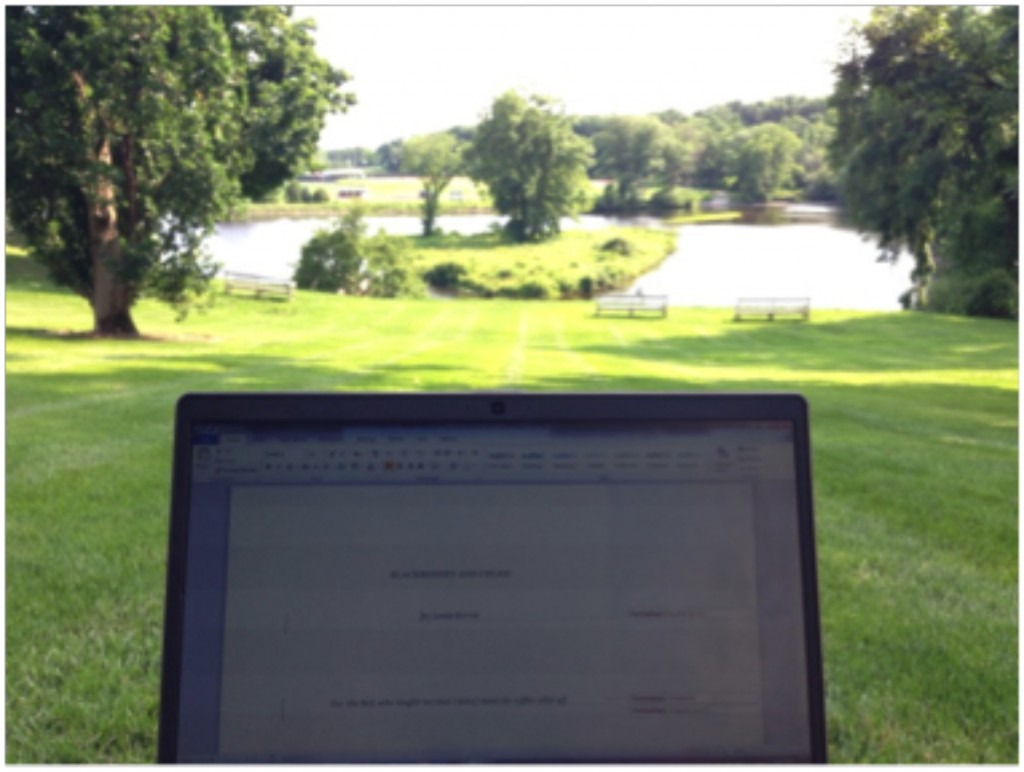 Flannery Wiest, GWP summer editorial intern, has a nice view from her daily reading in Northampton, Mass.