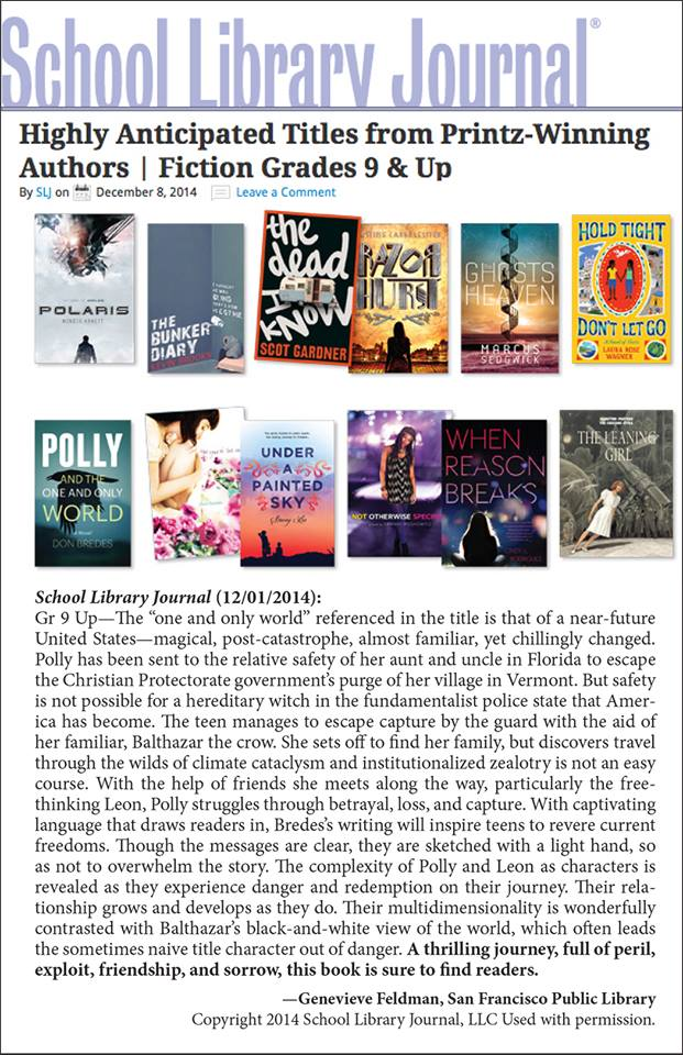 More Glowing Reviews A fabulous review from School Library Journal:
